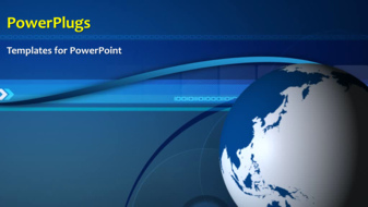 PowerPoint Template - Global world background